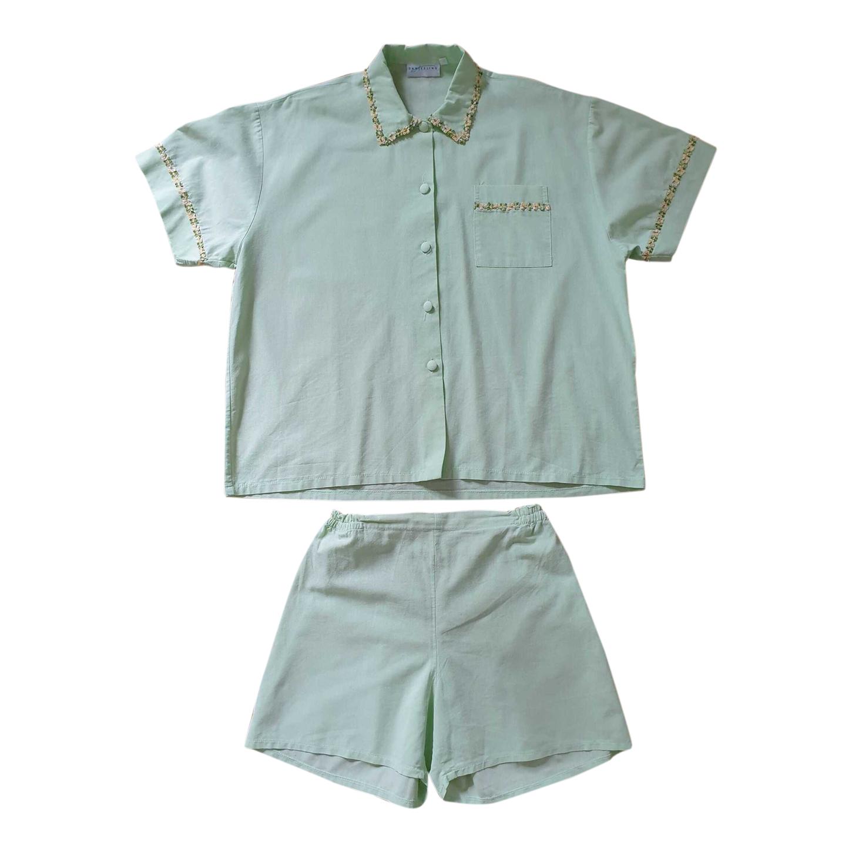 Pyjama vert pastel