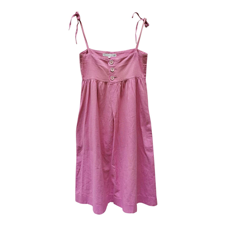 Robe à bretelles rose