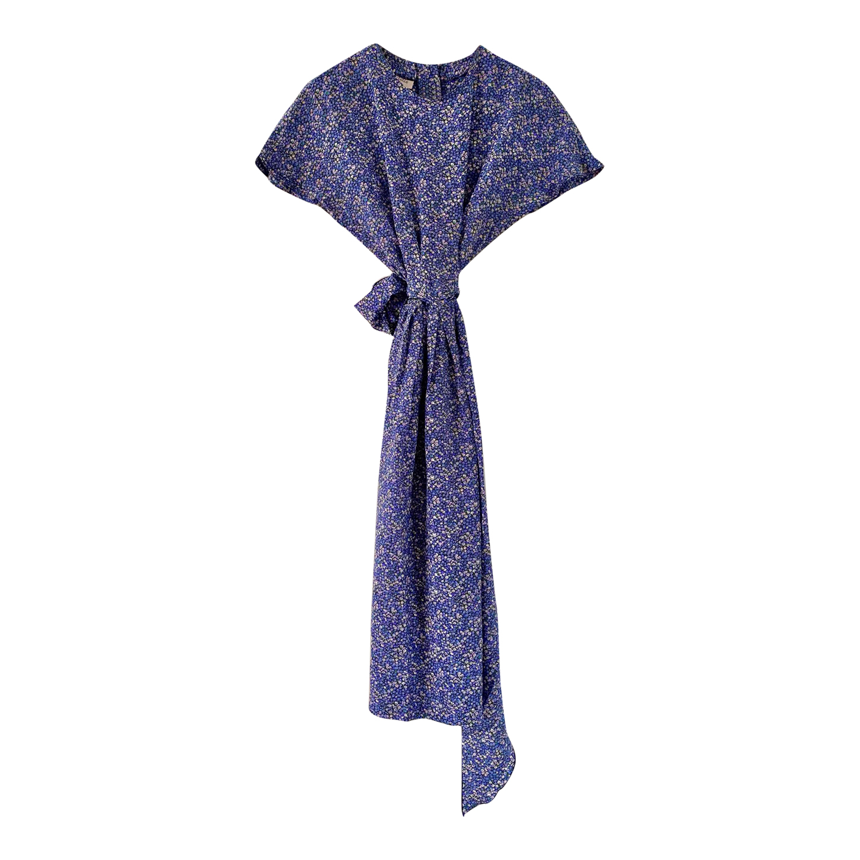 Robe à fleurs en soie