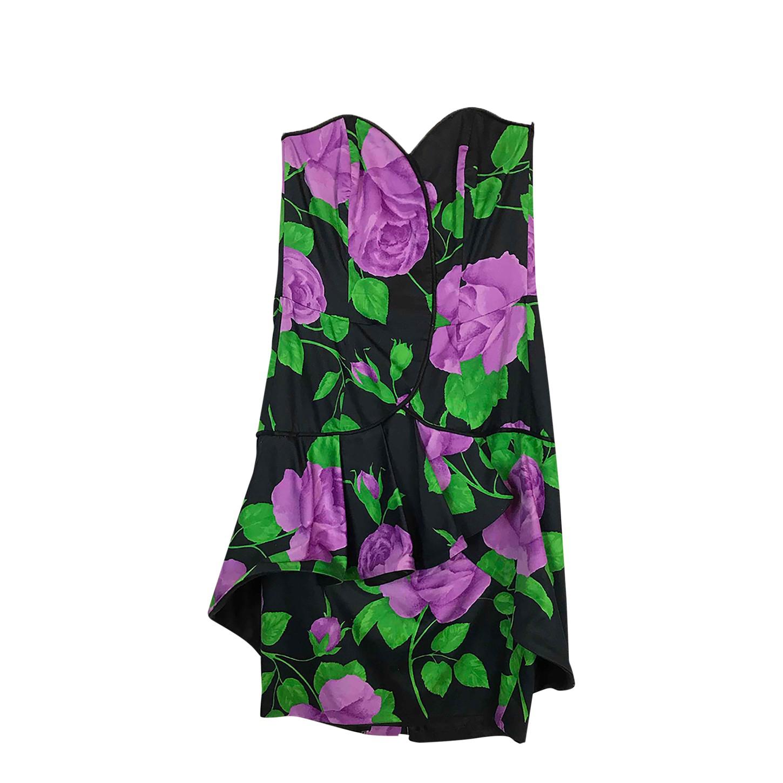 Robe bustier à fleurs