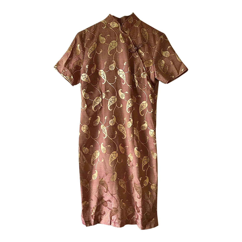 Robe chinoise rose