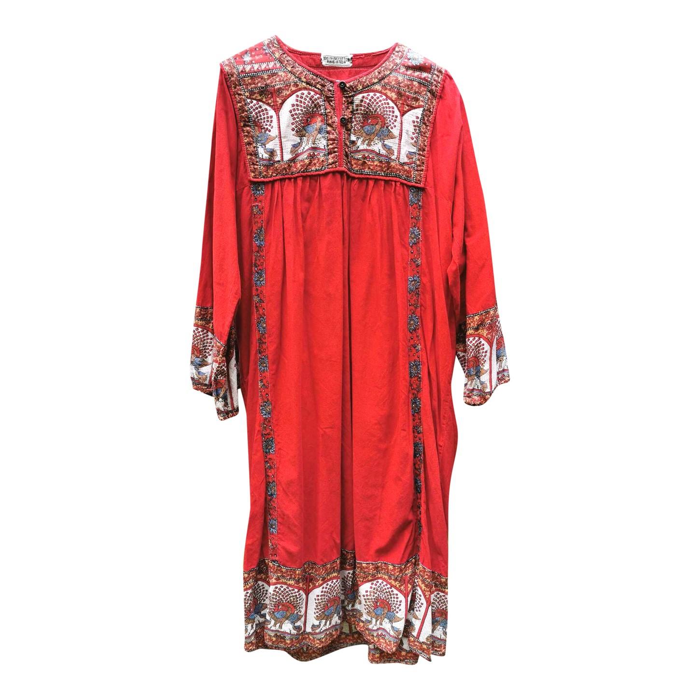 Robe en coton 70's