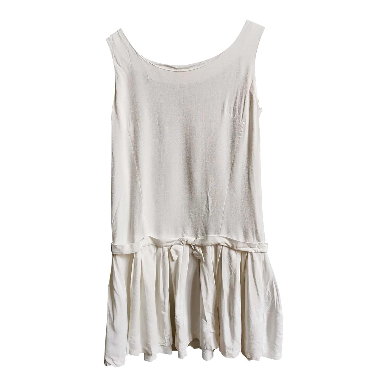Robe en coton blanc