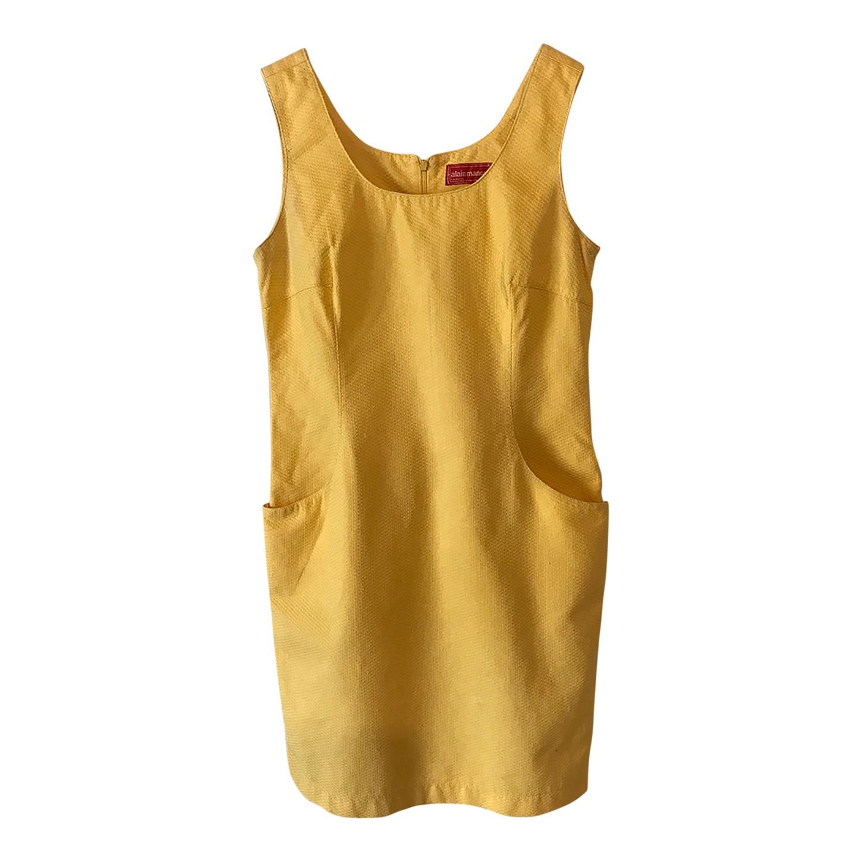 Robe en coton jaune