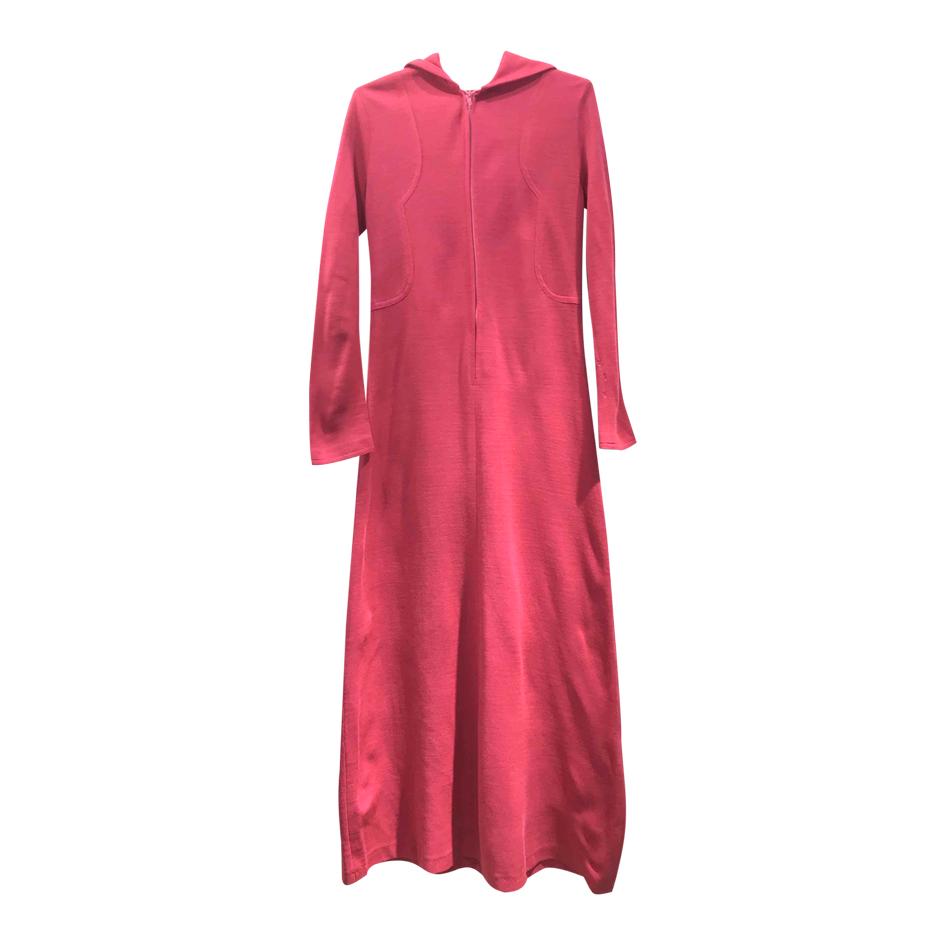 Robe longue à capuche