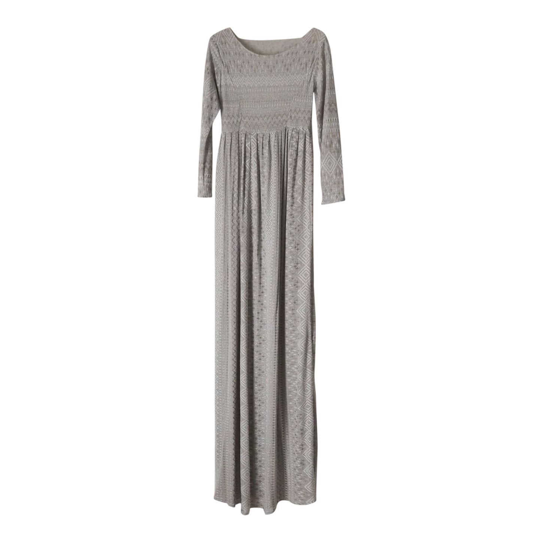 Robe longue en maille lurex