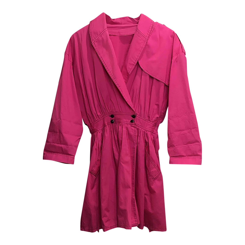 Robe rose en coton
