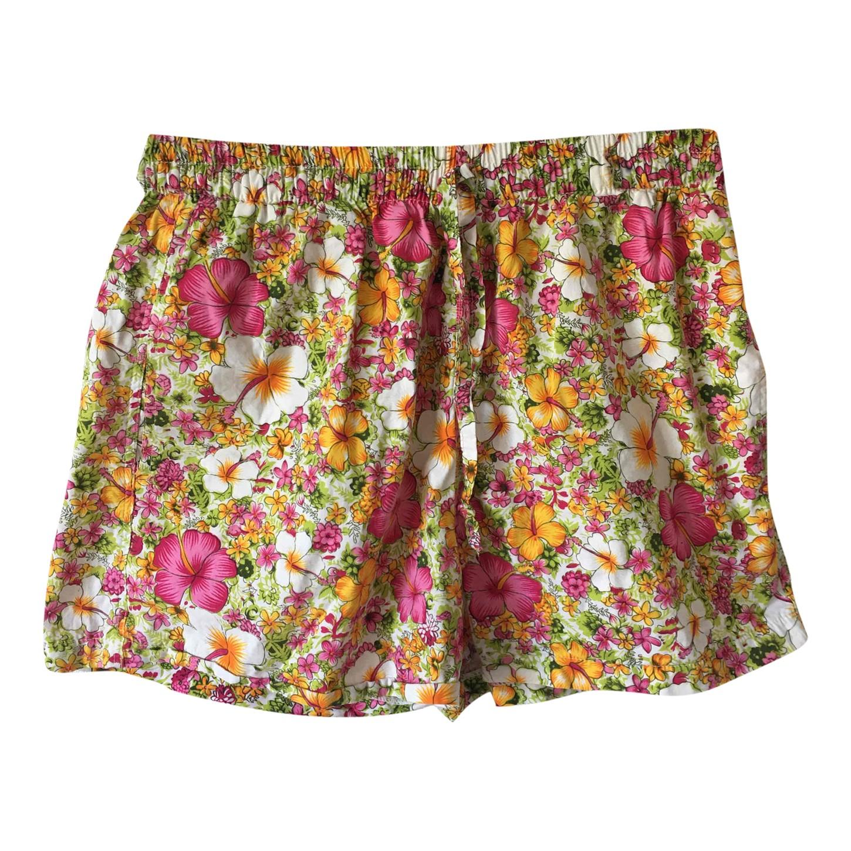 Short en coton à fleurs
