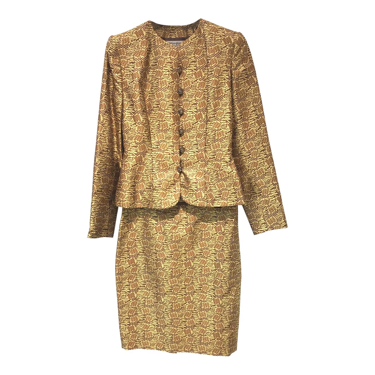 Tailleur jupe en soie Yves Saint Laurent