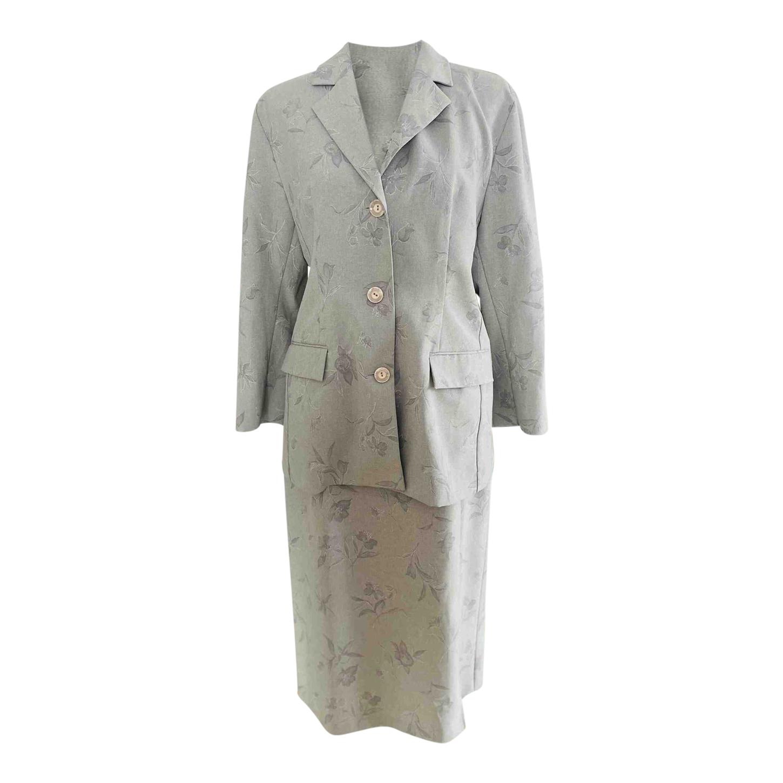 Tailleur jupe gris