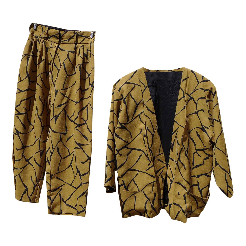 Tailleur pantalon en soie