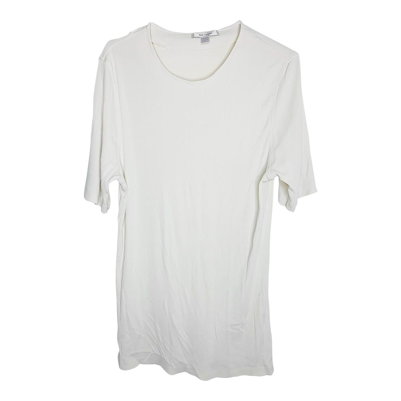 Tee-shirt long côtelé