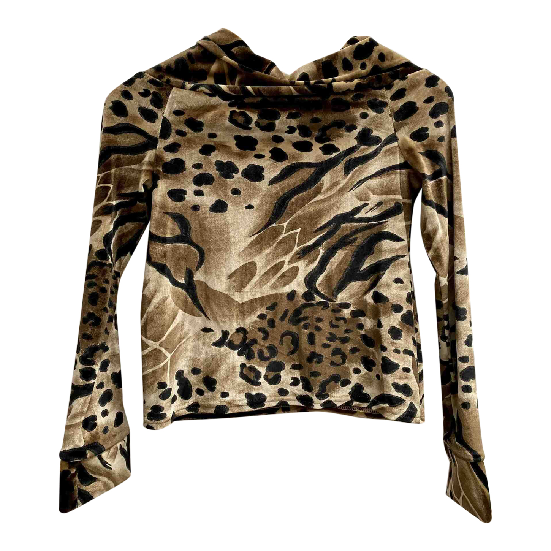 Top léopard en velours