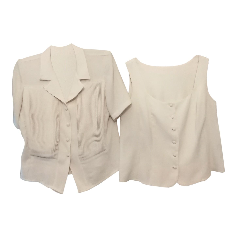 Twin set blanc