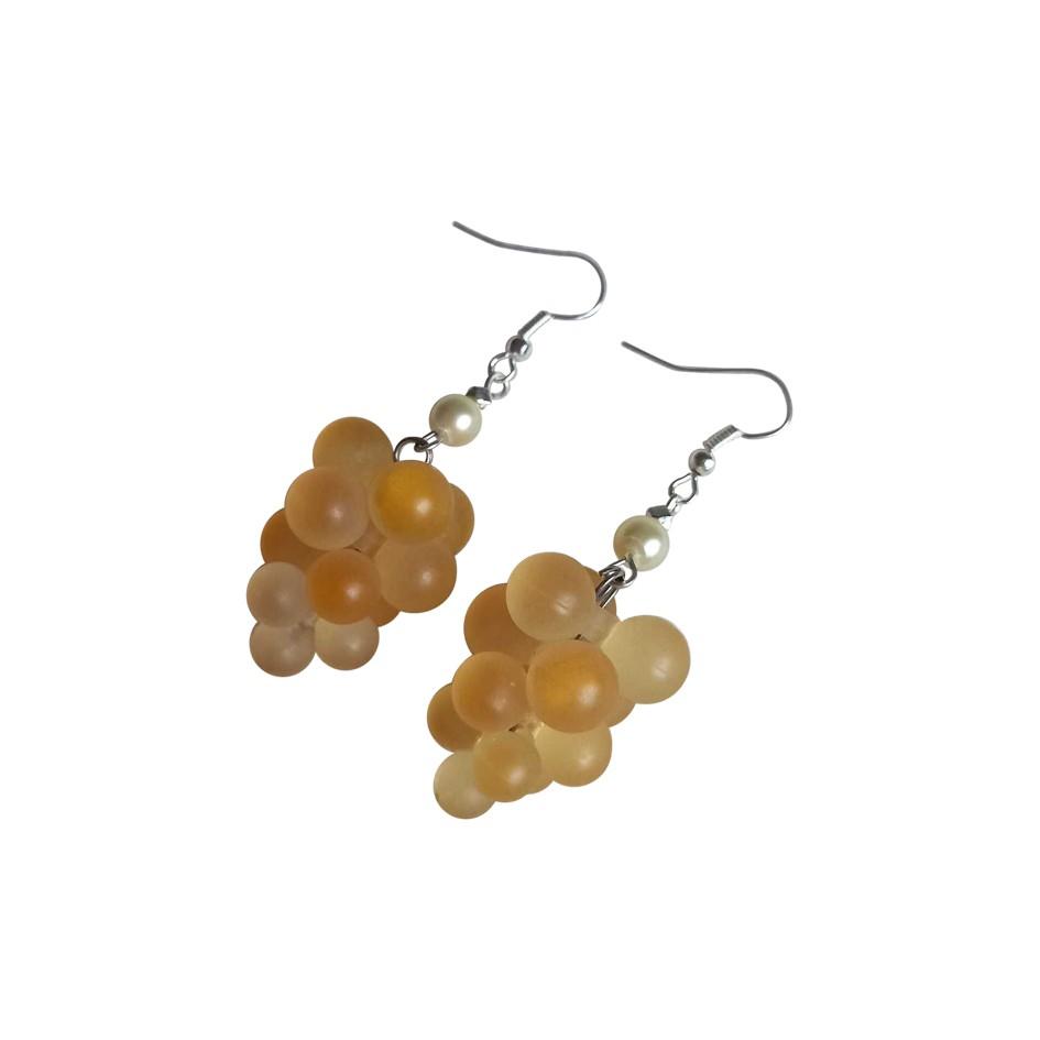 Boucles d'oreilles grappes de raisin