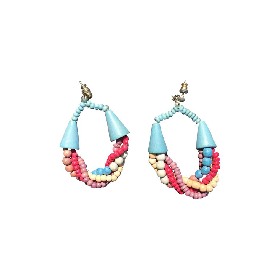 Boucles d'oreilles multicolores