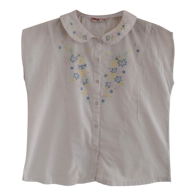 Chemise à fleurs brodées