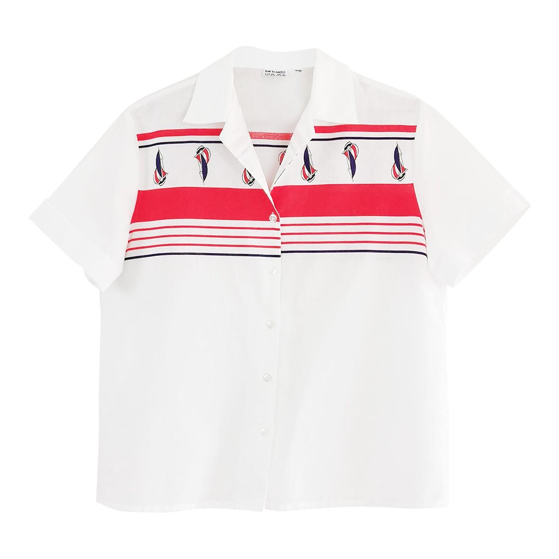 Chemise à motifs marins