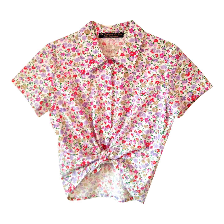 Chemise courte à fleurs