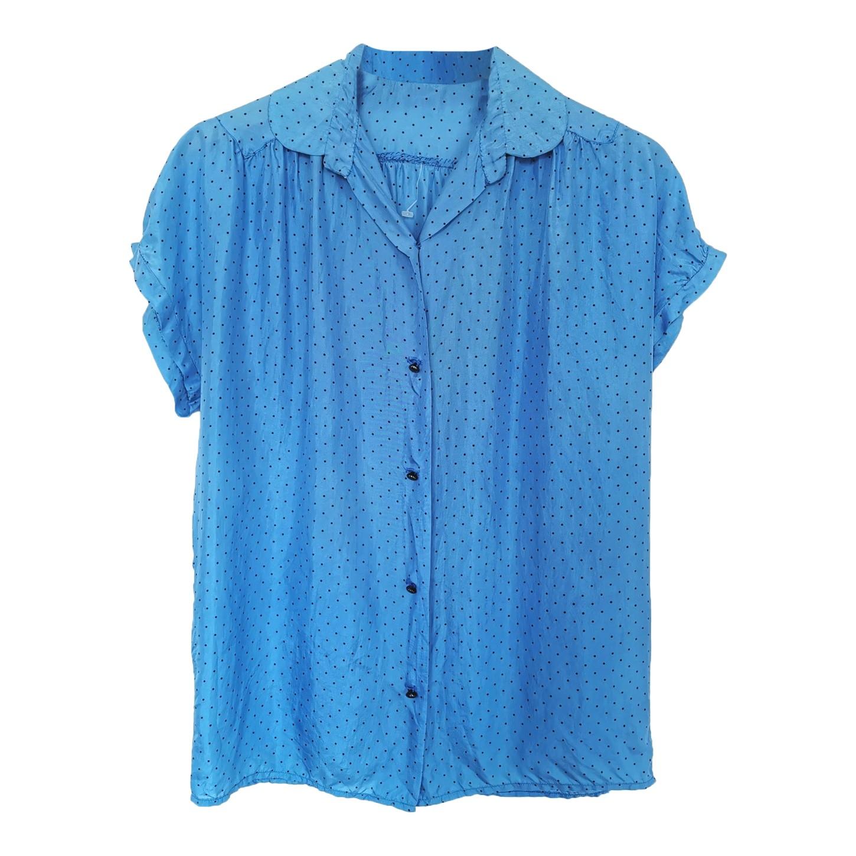 Chemise en soie à pois