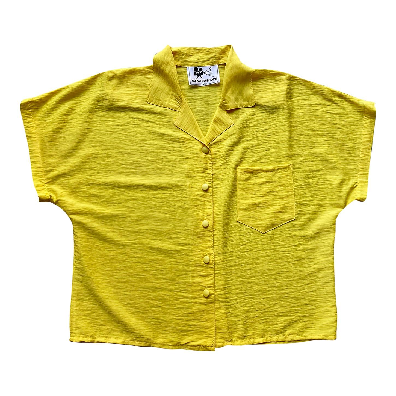 Chemise jaune 80's