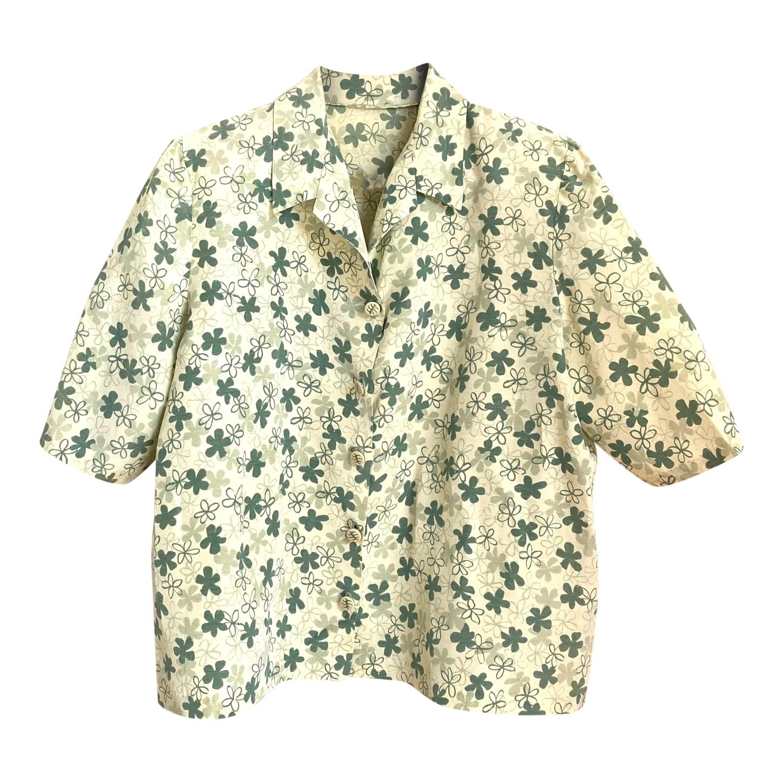 Chemise manches courtes à fleurs