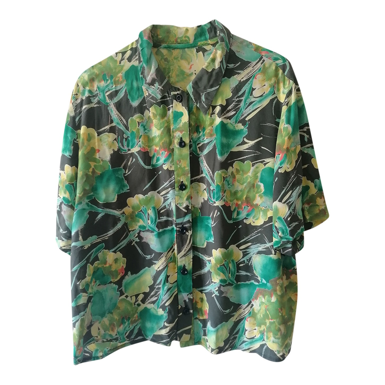 Chemise manches courtes en soie