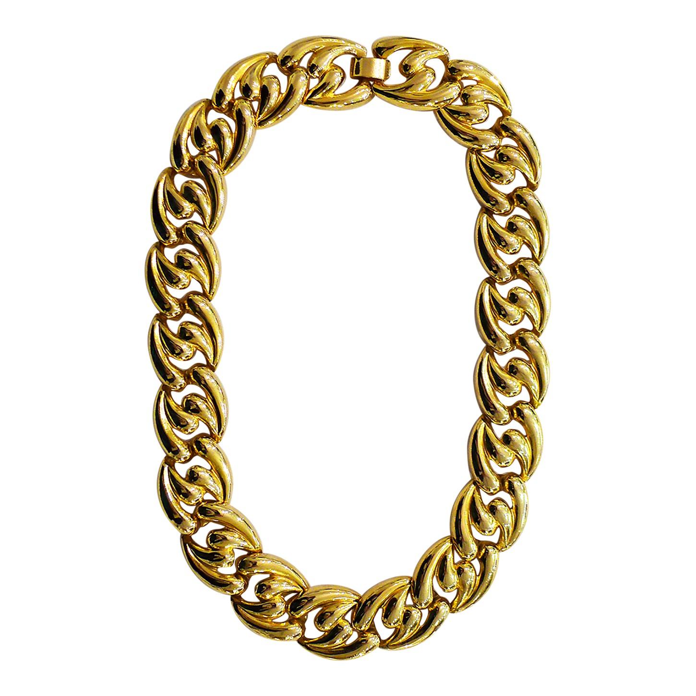 Collier en métal doré