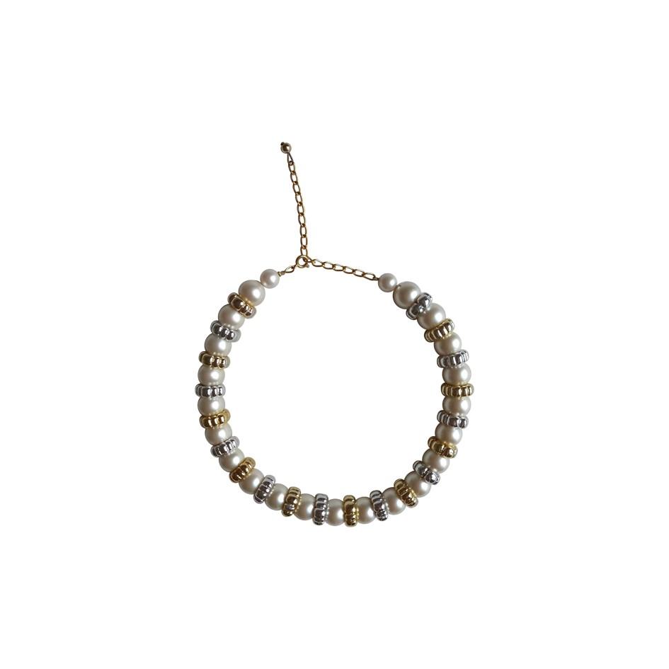 Collier ras de cou en perles