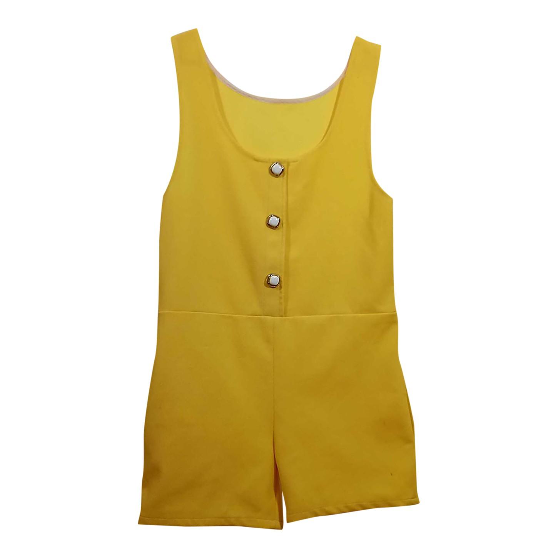 Combishort jaune 70's