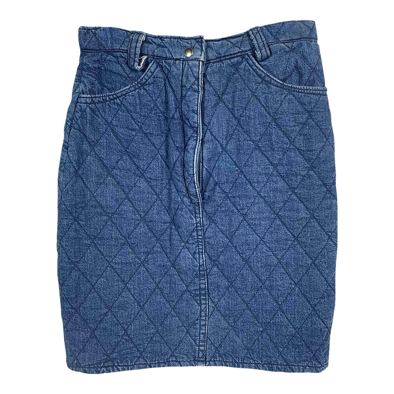 Jupe en jean matelassé