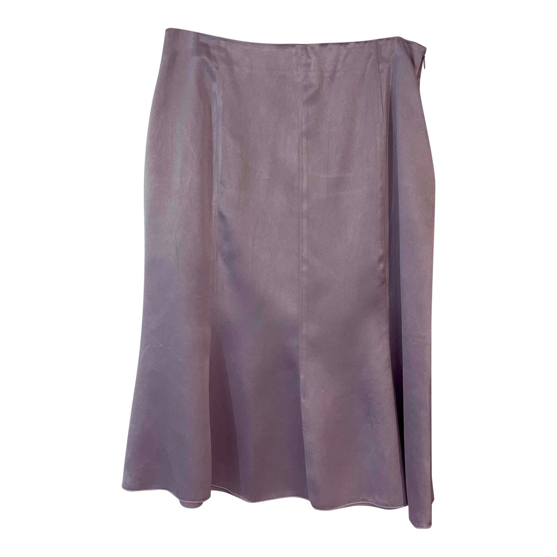 Jupe lilas en soie