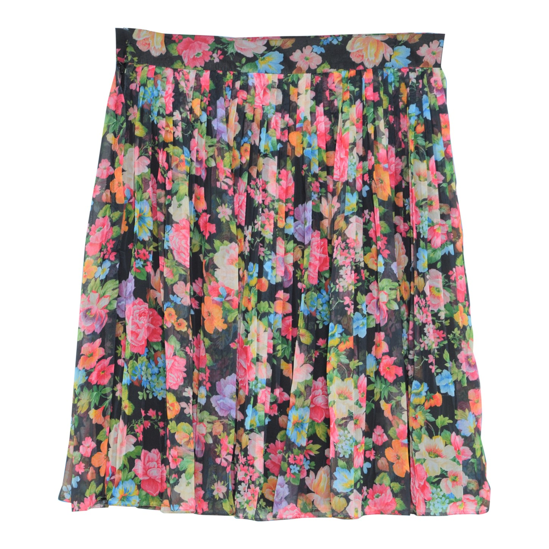 Jupe plissée à fleurs
