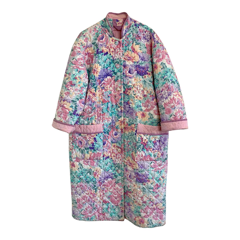 Manteau matelassé à fleurs