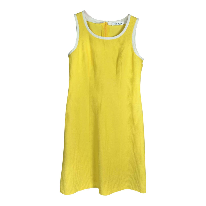 Mini robe jaune Escada