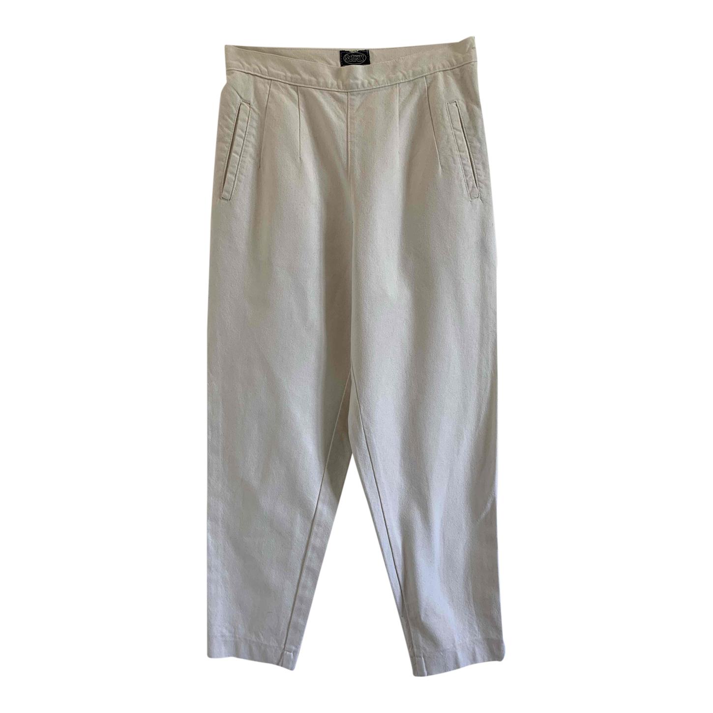 Pantalon à pinces écru