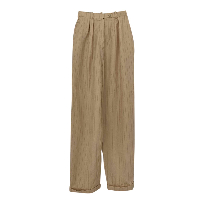 Pantalon à pinces en laine