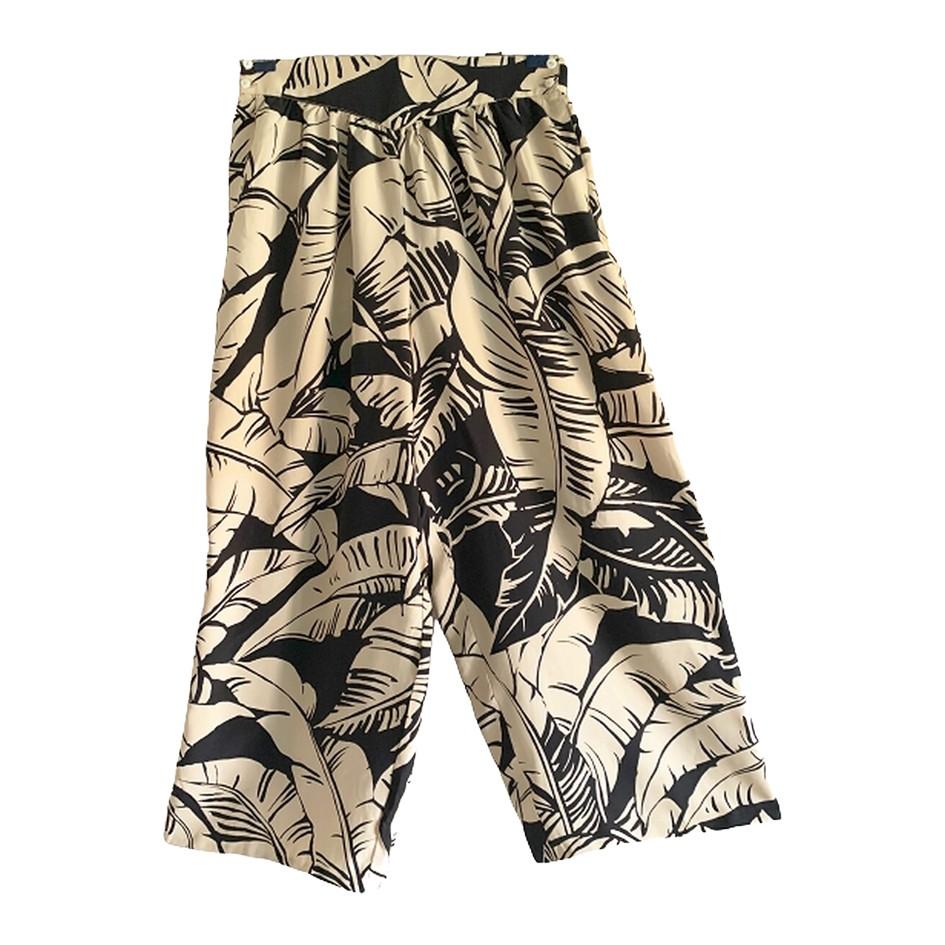 Pantalon court en soie 80s