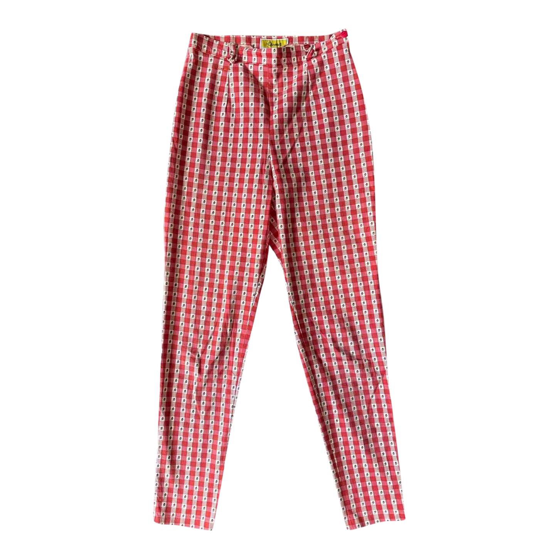 Pantalon droit vichy