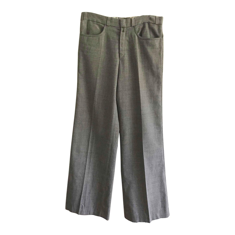 Pantalon flare en laine