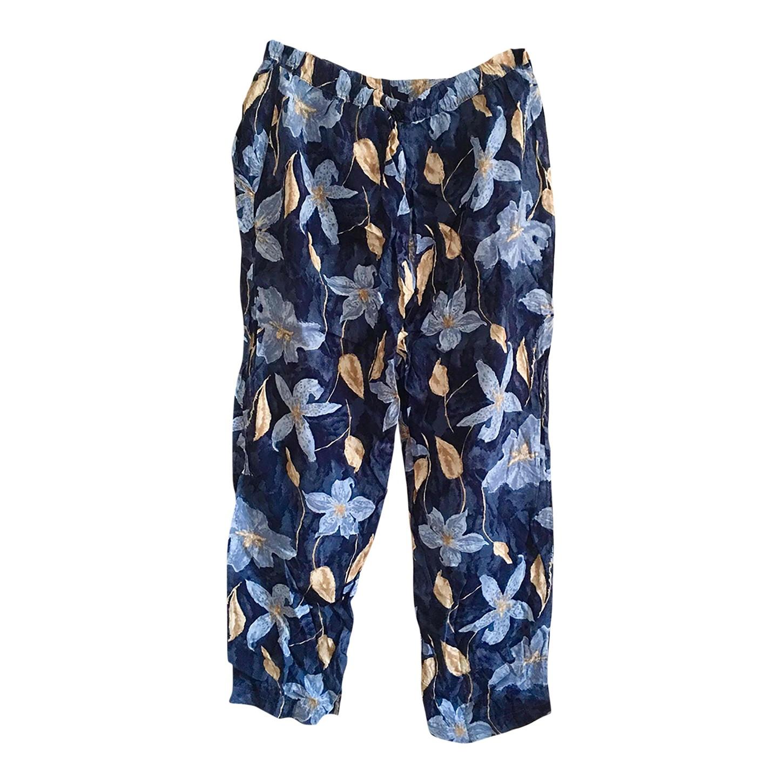 Pantalon fluide à fleurs