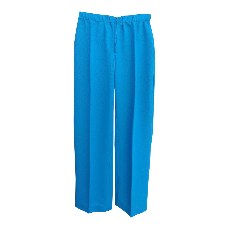 Pantalon fluide turquoise