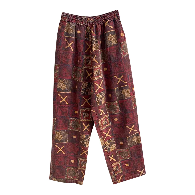 Pantalon large à motifs