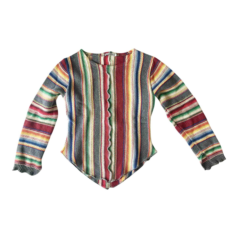 Pull en coton multicolore