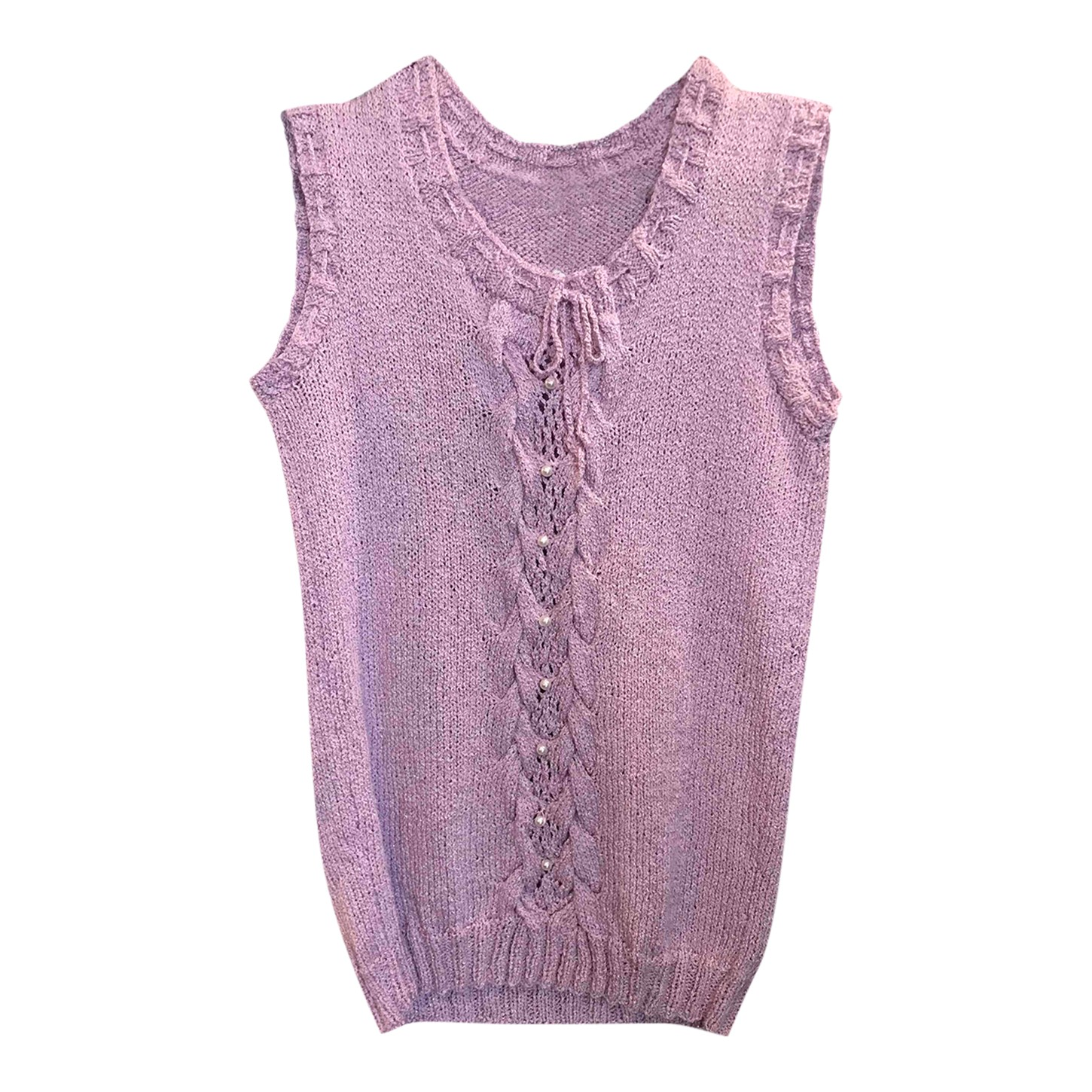 Pull sans manches lilas