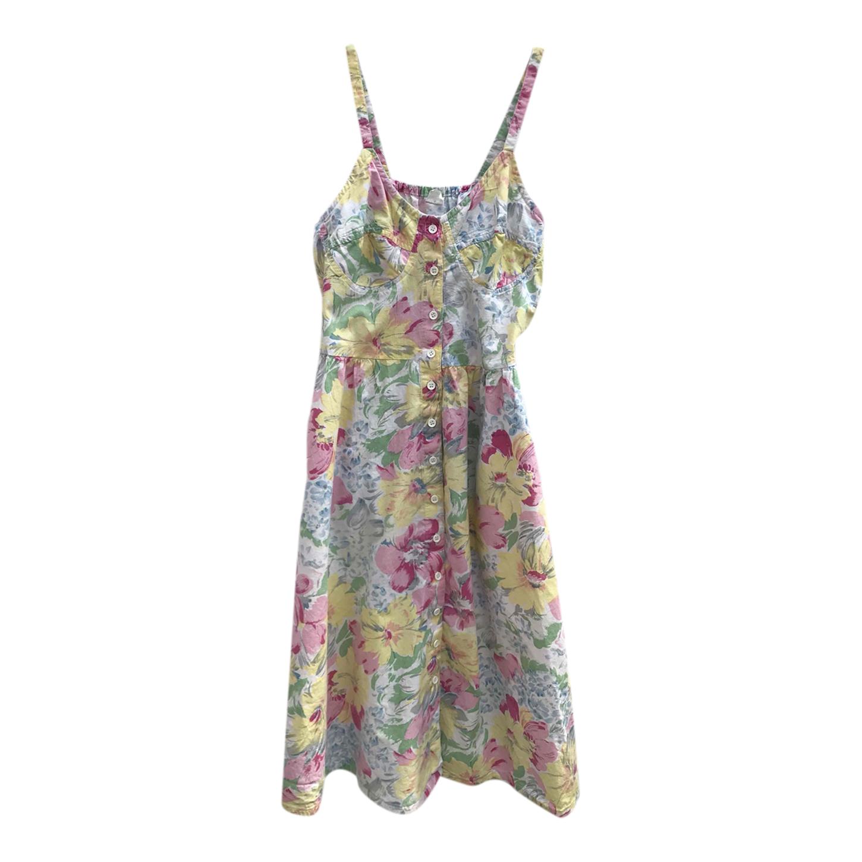 Button-down floral dress