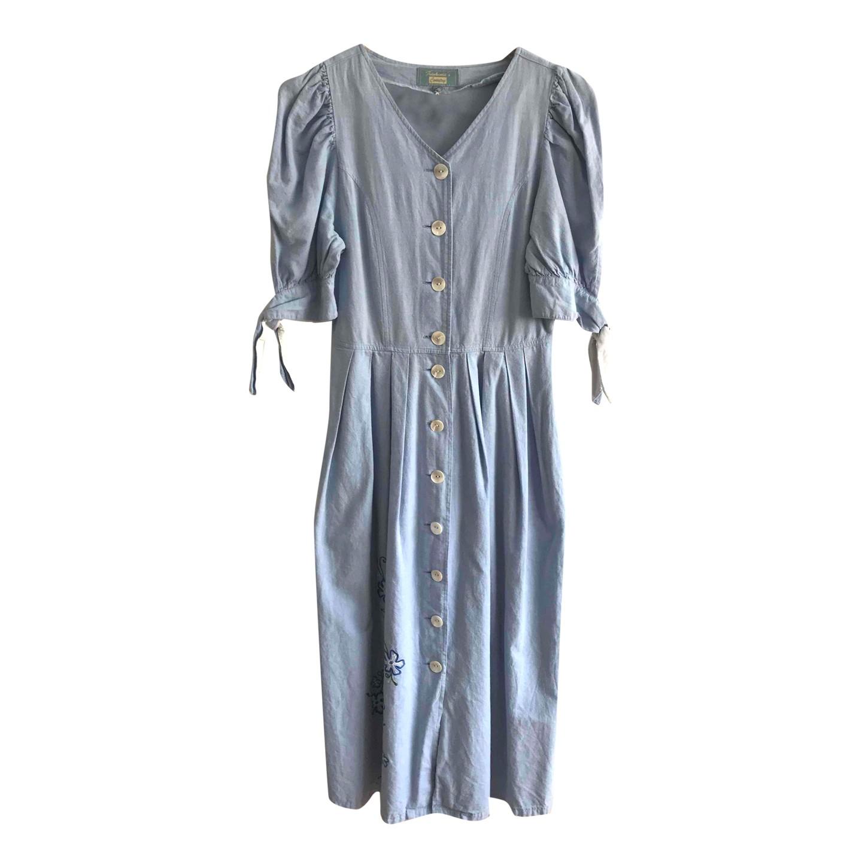 Robe boutonnée en coton