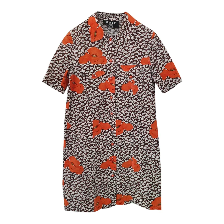 Robe chemise à fleurs