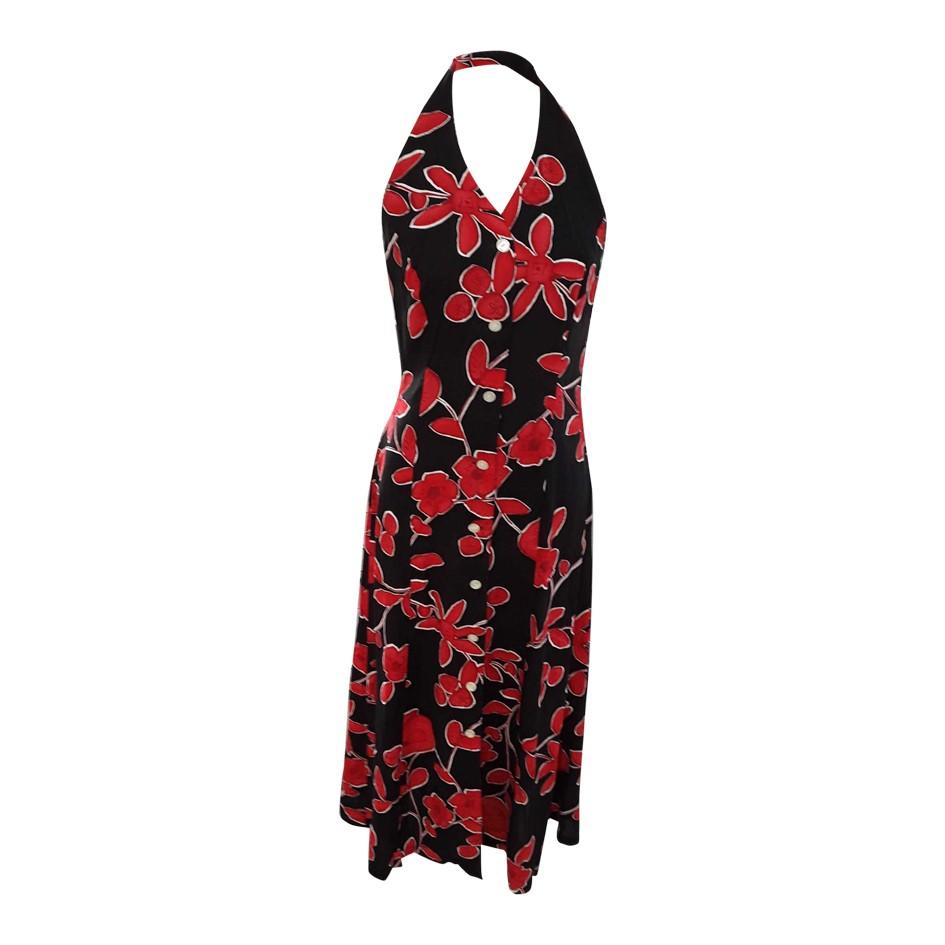 Robe dos nu à fleurs