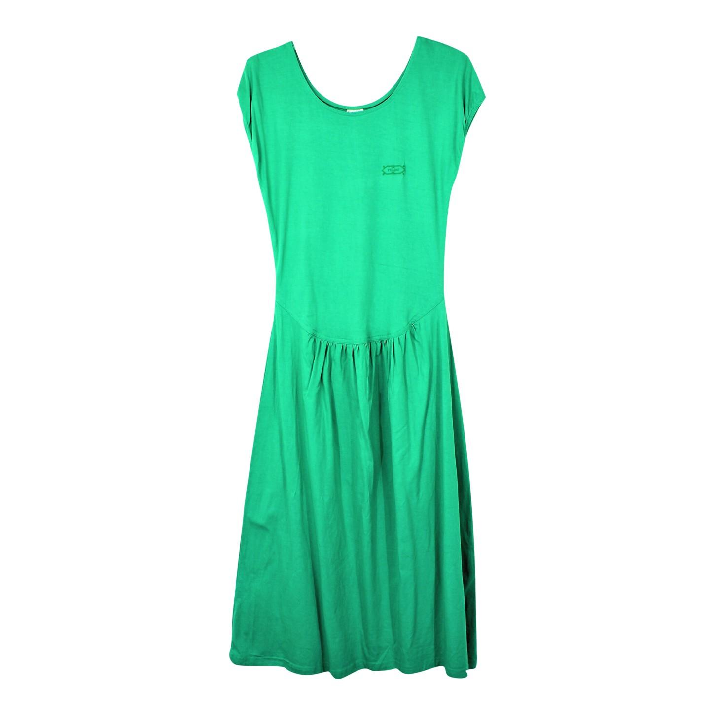 Robe en coton vert